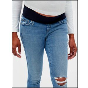 Old Navy Distressed Maternity Jeans